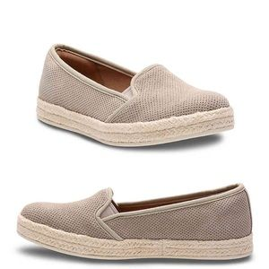 Clarks Azella Theoni Suede Espadrille Shoes 10